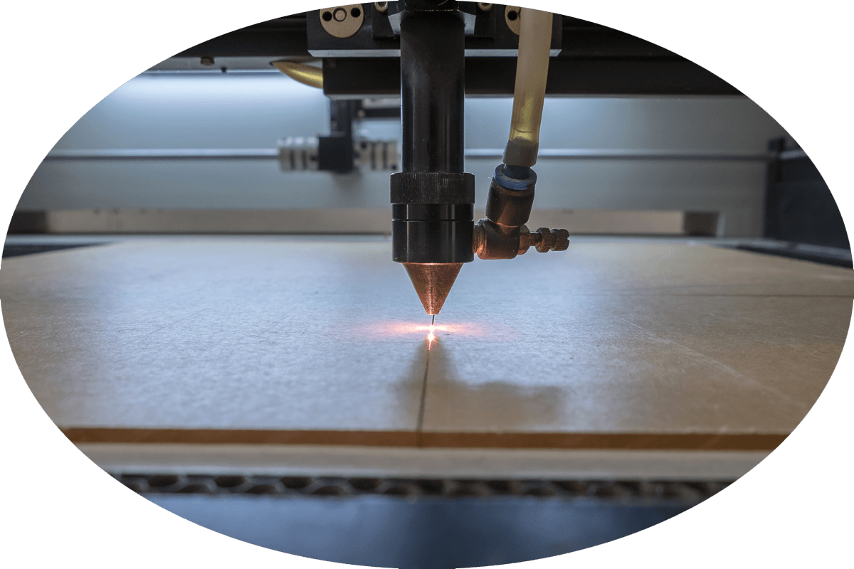 Plastic laser cutting