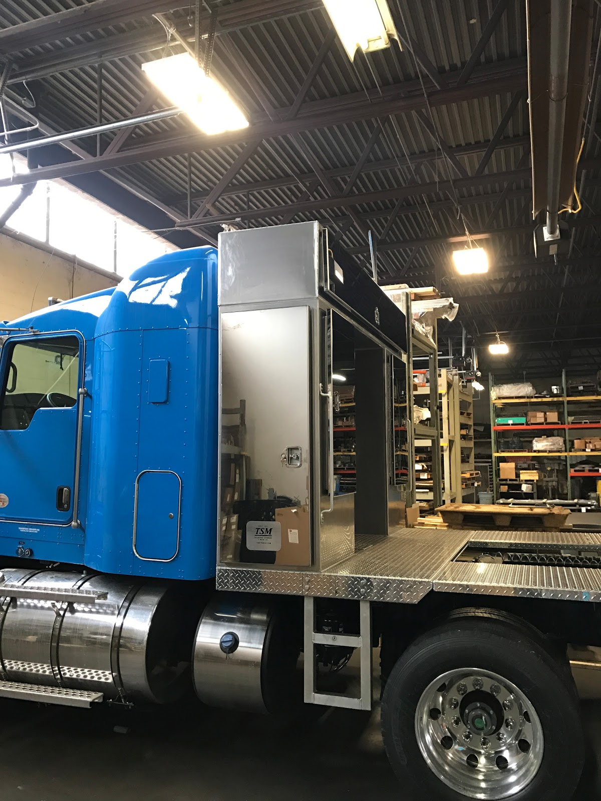 Custom manufactured cabinets for semi truck